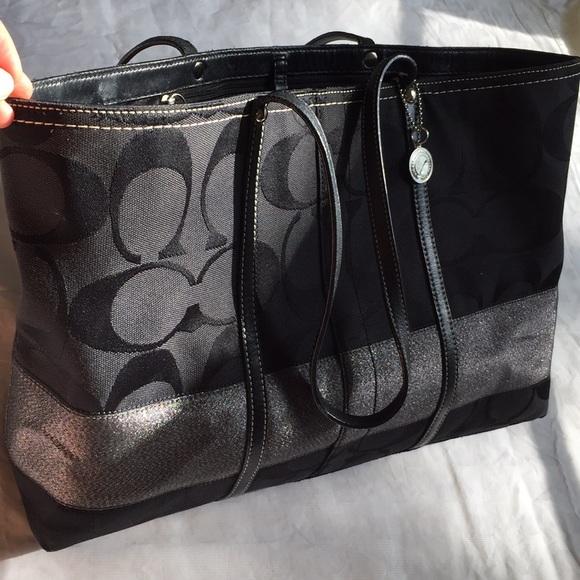 Coach Handbags - LARGE BLACK COACH TOTE bd9a1d6528d42